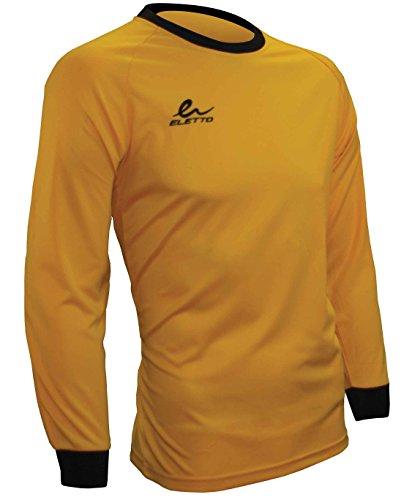 Eletto Plain GK Soccer Goalkeeper Jersey (X-Large, Gold/Black)
