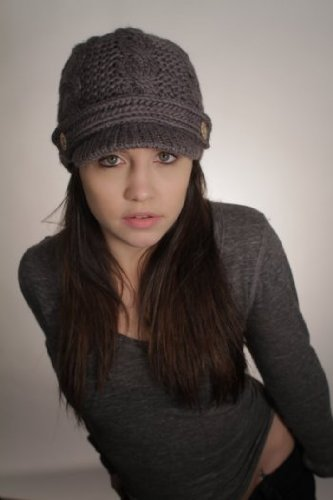 Nirvanna Designs CH211 Equestrian Knit Visor with Fleece, Dark Grey by Nirvanna Designs