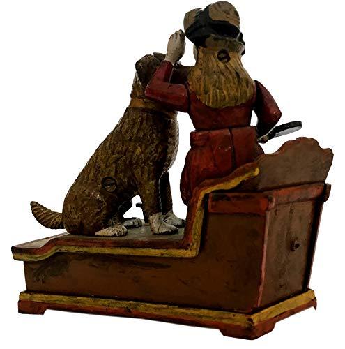 Global Art World J. E. Stevens Company 1897 Re-Creation Heavy Quality Antique Style Cast Iron Mechanical Vintage Speaking Dog Money Box Bank MB 04 by Global Art World (Image #4)