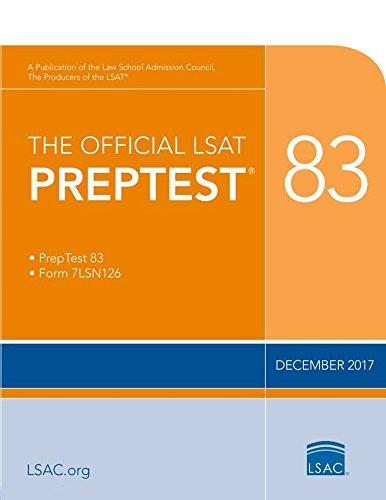 Pdf Test Preparation The Official LSAT PrepTest 83: (Dec. 2017 LSAT)
