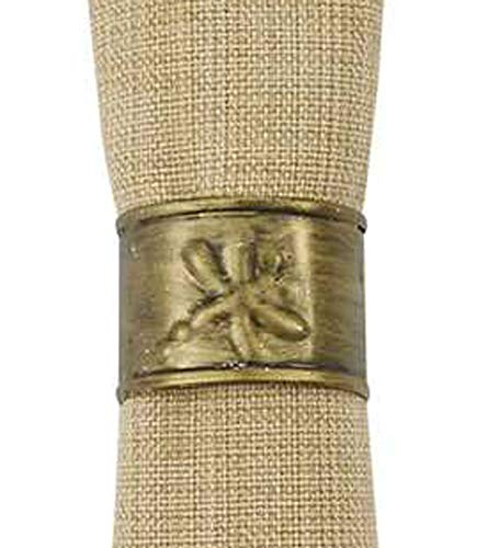 Park Designs Dragonfly Napkin Ring Set of 4 Cuff Style, -