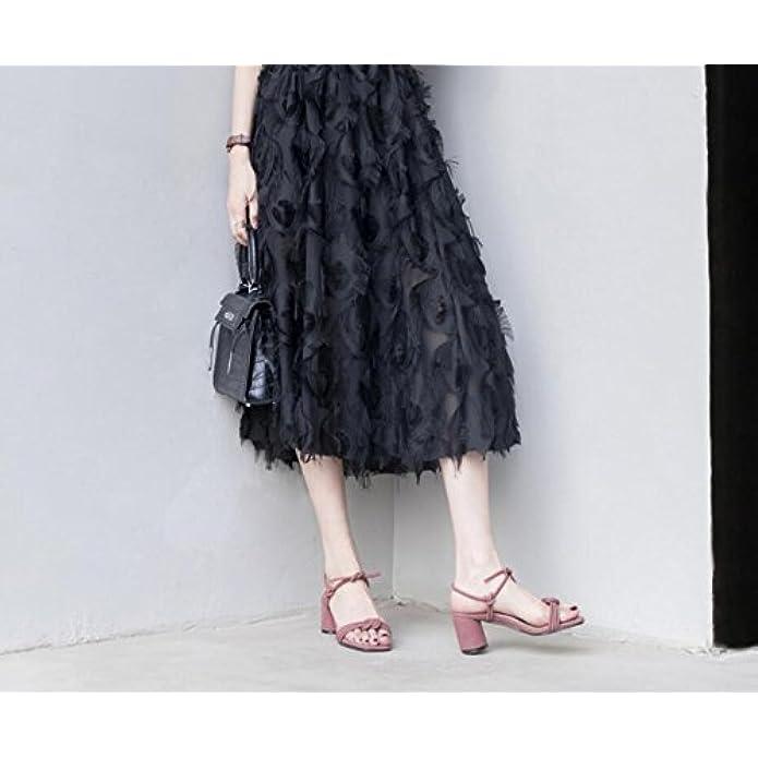 Dandanjie Scarpe Da Donna Primavera Estate Basic Pump Comfort Sandals Chunky Heel Open Toe Buckle Per Abbigliamento Casual