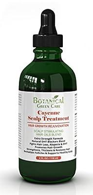 Cayenne Hair Loss Treatment. Premium Organic Scalp Stimulating Botanical Formula