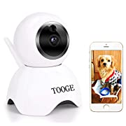 #LightningDeal TOOGE Pet Camera, Dog Camera FHD Pet Monitor Indoor Cat Camera Night Vision 2 Way Audio and Motion Detection(Updated)