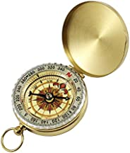 BSTHP Compass Metal Retro Survival Gear for Military Camping Hiking Riding Tools