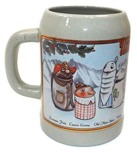- Vintage Stoneware Utica Club Character Stein Print Beer Mug Tankard