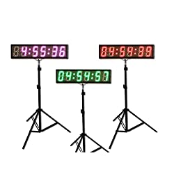 EU Electronic EU 5 6 digits (7 Colors) LED Countdown Clock Race Timing For Running Events APP With IR Remote