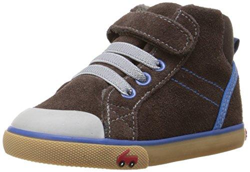 See Kai Run Dane High Top Sneaker , Brown, 7 M US Toddler