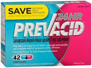 Prevacid 24 Hr Acid Reducer Capsules - 42 ct, Pack of 5
