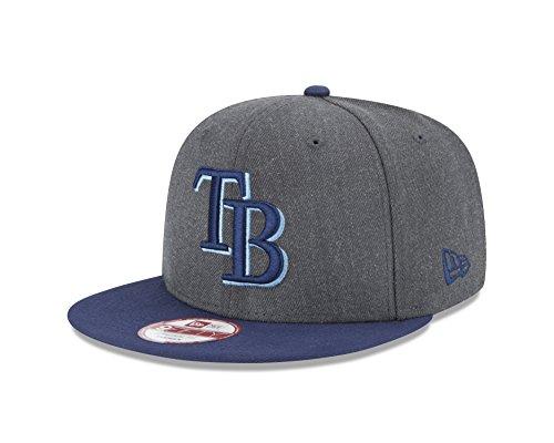 New Era MLB Tampa Bay Rays Heather 9Fifty Snapback Cap, One Size, ()