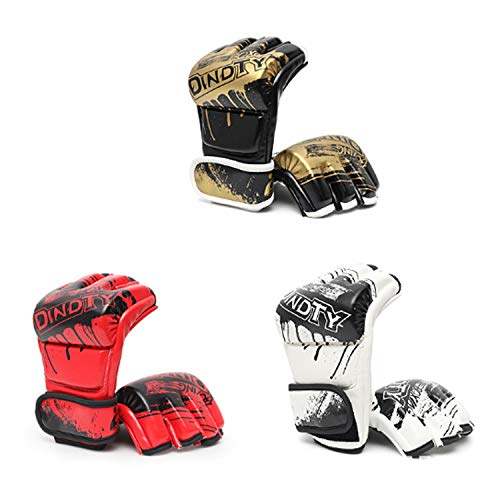 Breathalbe Boxing Sporting Gloves for Training Muay Thai - PU Leather Sporting Gloves for Sparring, Kickboxing and Heavy Punching Bag, Fighting, Bag Mitts, Focus Mitts Comfortable