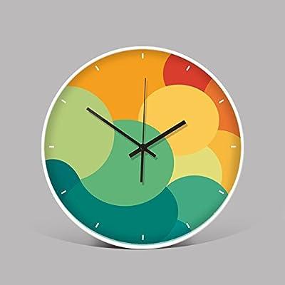 Wall Clock WuuLii Decor-Modern Minimalist Living Room Creative Clocks Bedroom Stylish Metal Office Mute Wall Clock 12 inch,07