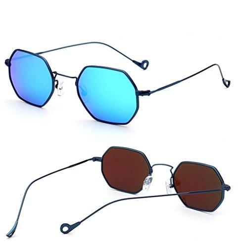 Z&YQOcchiali da sole personalità Metal Frame Vintage Style Fashion Street battere Eyewear , D