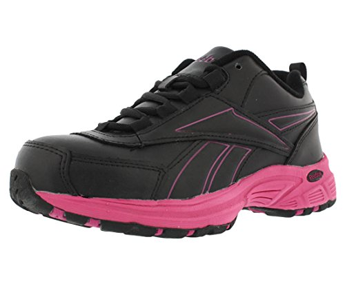 (Reebok Work Ateron RB482 Womens Black/Pink EH Steel Toe Athletic Cross Trainer Shoes)