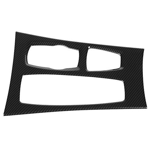 Acouto Car Center Console Gear Box Panel Cover Trim for BMW X5 X6 E70 E71 2008-2014, Carbon Fiber ()