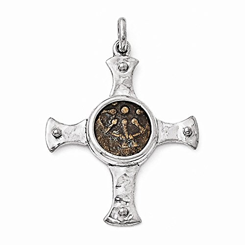 sterling-silver-bronze-antiqued-widows-mite-coin-cross-pendant