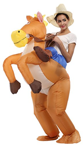 Horse And Rider Fancy Dress Costume (Goodsaleok Inflatable Adult Rider Halloween Animal Fancy Costume Horse)