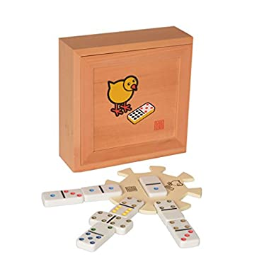 Chicken Foot Double 9 Dominoes Game Set with Case, Hub, and Scorepad
