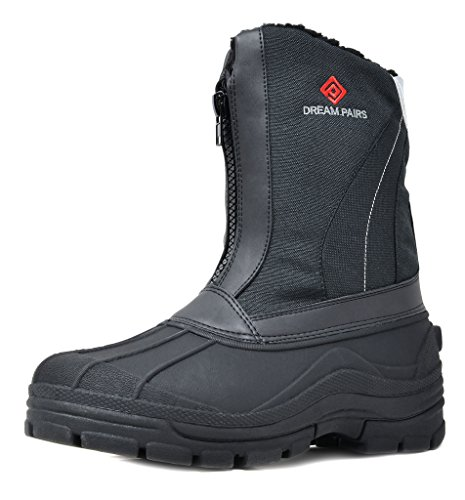 Dream Pairs Mens Denver 5 Black Insulated Waterproof Winter Snow Boots Size 12 M Us