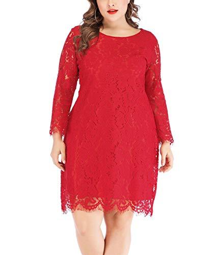 Valentine Plus-Size Short Red Dresses