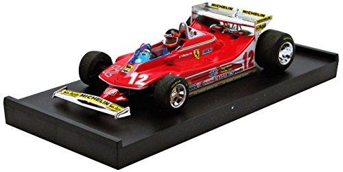 1/43 フェラーリ 312T4 1979年モナコGP Gilles Villeneuve #12(レッド) ドライバー付 R514-CH