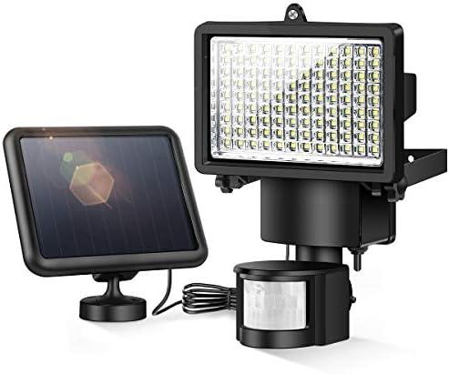 INSOME Solar Lights Outdoor, 108 LED Solar Motion Sensor Lights IP65 Waterproof, Solar Security Lights for Garage Front Door Garden Deck