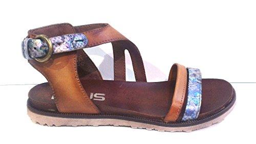 Mjus Sandale, Antikleder iride-caramel, 255019-0301-0001