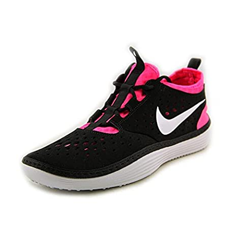 Nike Solarsoft Costa Low Running Womens Shoe Black Pink (7)