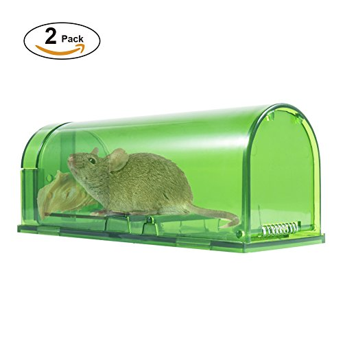 Catch Mouse Trap (Catcha Humane Smart Mouse Trap Live Catch and Release Rodents, Safe around Children & Pets (Pack of)