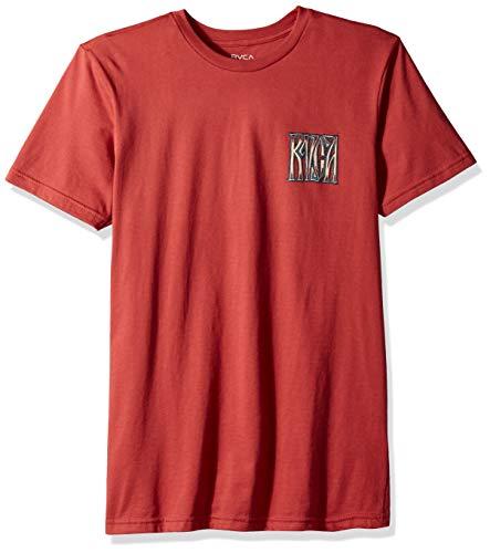 RVCA Men's Gretta Short Sleeve T-Shirt, Garnet L