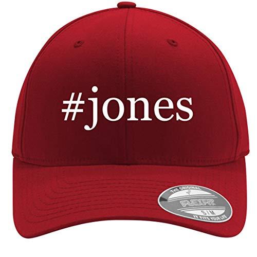 #Jones - Adult Men's Hashtag Flexfit Baseball Hat Cap, Red, Small/Medium -