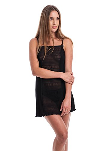Flos Veris Sheer Viscose Chemise With Shoulder Straps Sleepwear Made in - Chemise Holiday