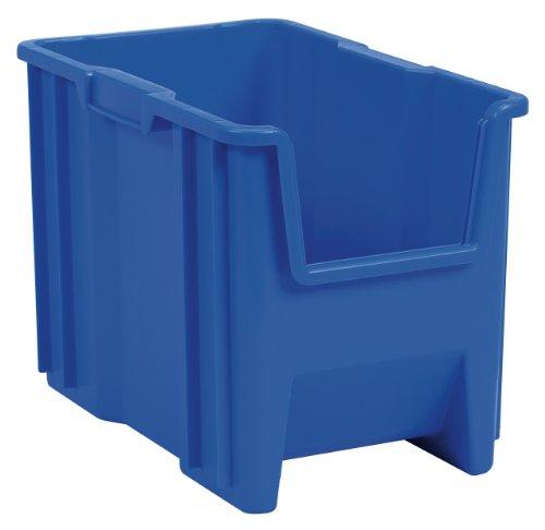 Akro-Mils 13014 Stak-N-Store Stacking Hopper Front Plastic Storage Bin, Blue, Case of (Akro Mils Poly Bins)