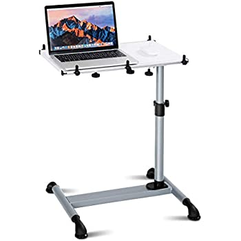 Amazon Com Tangkula Laptop Cart Home Rolling Over Bed