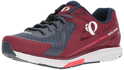 Pearl iZUMi Women's W X-Road Fuel v5 Cycling Shoe, Port/Midnight Navy, 39.0 M EU (7.5 US)