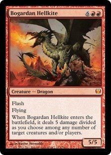 - Magic: the Gathering - Bogardan Hellkite - Duel Decks: Knights vs Dragons - Foil