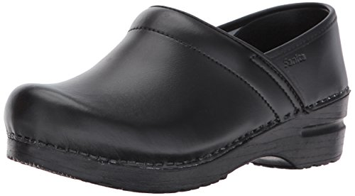 Sanita Womens Professional PU Clog Black