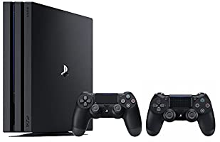 PlayStation 4 Pro Console Bundle (2 Items): PS4 Pro 1TB Console and an Extra PS4 Dualshock 4 Wireless Controller - Jet Black