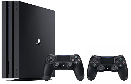 PlayStation 4 Pro Console Bundle (2 Items): PS4 Pro 1TB Console and an Extra PS4 Dualshock 4 Wireless Controller – Jet Black