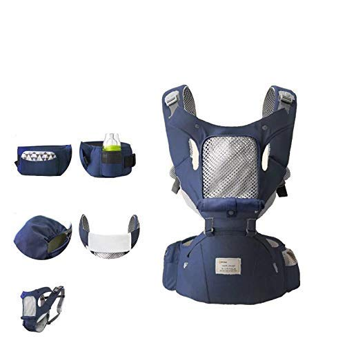 360 Ergonomic Baby Carrier with Hip Seat Mesh Design Baby Backpack Carrier,Adapt to Newborn Infants and Toddler,Maximum Waist Size 45 inches (Navy Blue)