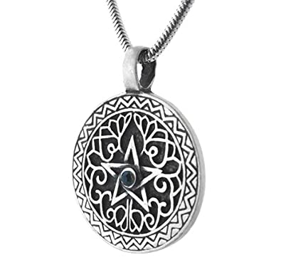Amazon silver insanity green earth element pentacle pendant silver insanity green earth element pentacle pendant necklace with 20quot snake chain aloadofball Gallery