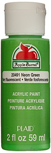 Apple Barrel Acrylic Paint in Assorted Colors (2 oz), 20491, Neon Green