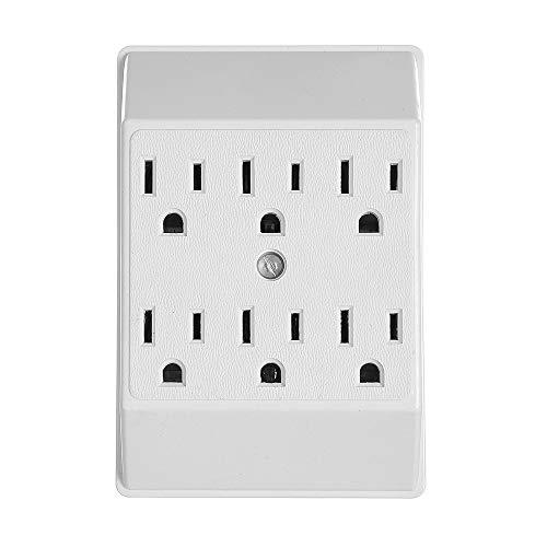 Amp 15 Outlet 6 - Eaton 1146W-SP 15-Amp 125-Volts Six Outlet Tap Duplex Receptacle, White