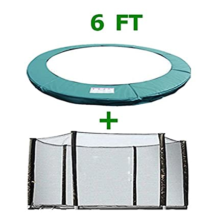 Safety Enclosure Net Surround Outdoor Netting Greenbay 6 8 10 12 13 14 FT Foot Replacement Trampoline Pad /& Net SET Green UV Resistant PVC Top Safety Guard Spring Cover Padding Pads
