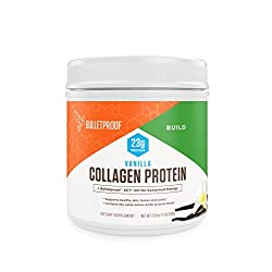 Vanilla Collagen Protein Powder with MCT Oil, 19g Protein, 17.6 Oz, Bulletproof Collagen Peptides and Amino Acids for…