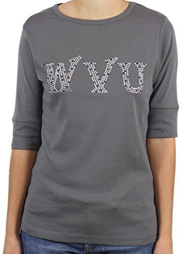 - Nitro USA NCAA West Virginia Mountaineers Half Sleeve Top, X-Large, Grey