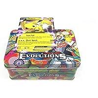 Pokemon Sun & Moon Evolutions Cards with Metal Box
