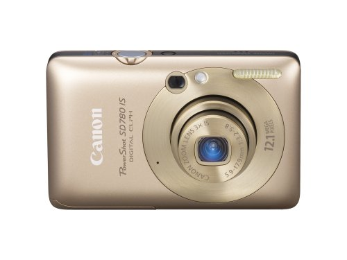 Canon PowerShot SD780IS 12.1 MP Digital Camera with 3x Optical Image Stabilized Zoom and 2.5-inch LCD (Gold)