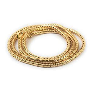 SUKRA GOLD 1 Gram Micro Gold Plated Traditional Designer Chain for Women and Girls