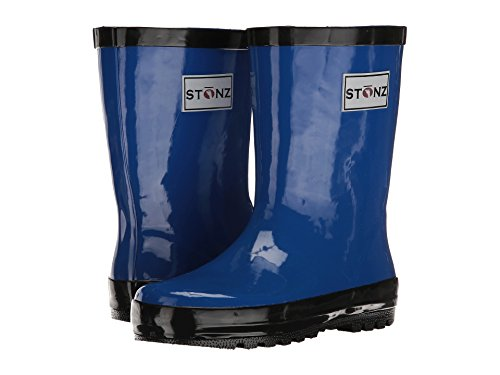 Stonz All-Natural Rubber Rainboot Rain Boots for Toddler Little Big Kid - Waterproof Colorful Warm - Summer Fall Winter - Royal Blue, Size 13T by Stonz